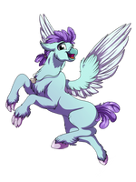 :COMM: Flying like a Hippogriff by LupiArts