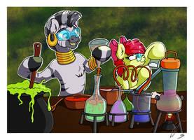 Comic Sins - Secret Drug Lab by LupiArts