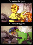 At the Gym: Them and Me