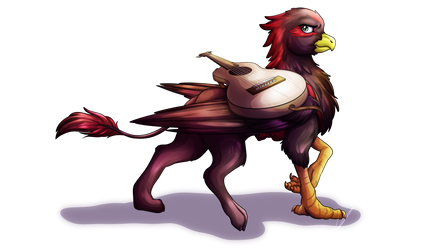 :COMM: Edgy Griffon by LupiArts