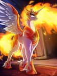 :COMM: Fiery Ruler by LupiArts