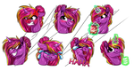 :COMM: Diamond's Stickers by LupiArts