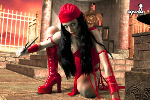 SuperHeroine day Elektra by cosplayerotica