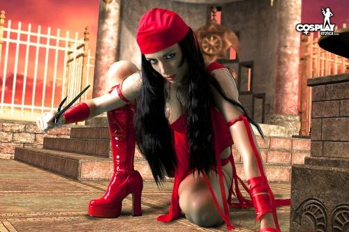 SuperHeroine day Elektra by cosplayerotica