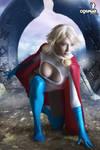 Kayla as Powergirl