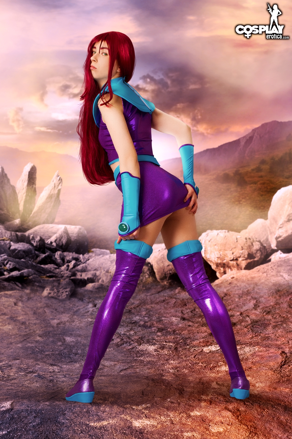 cosplayerotica stacy  Starfire by cosplayerotica Starfire by cosplayerotica