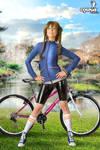 Suzuha Steins Gate in her shiny biker pantssuzu