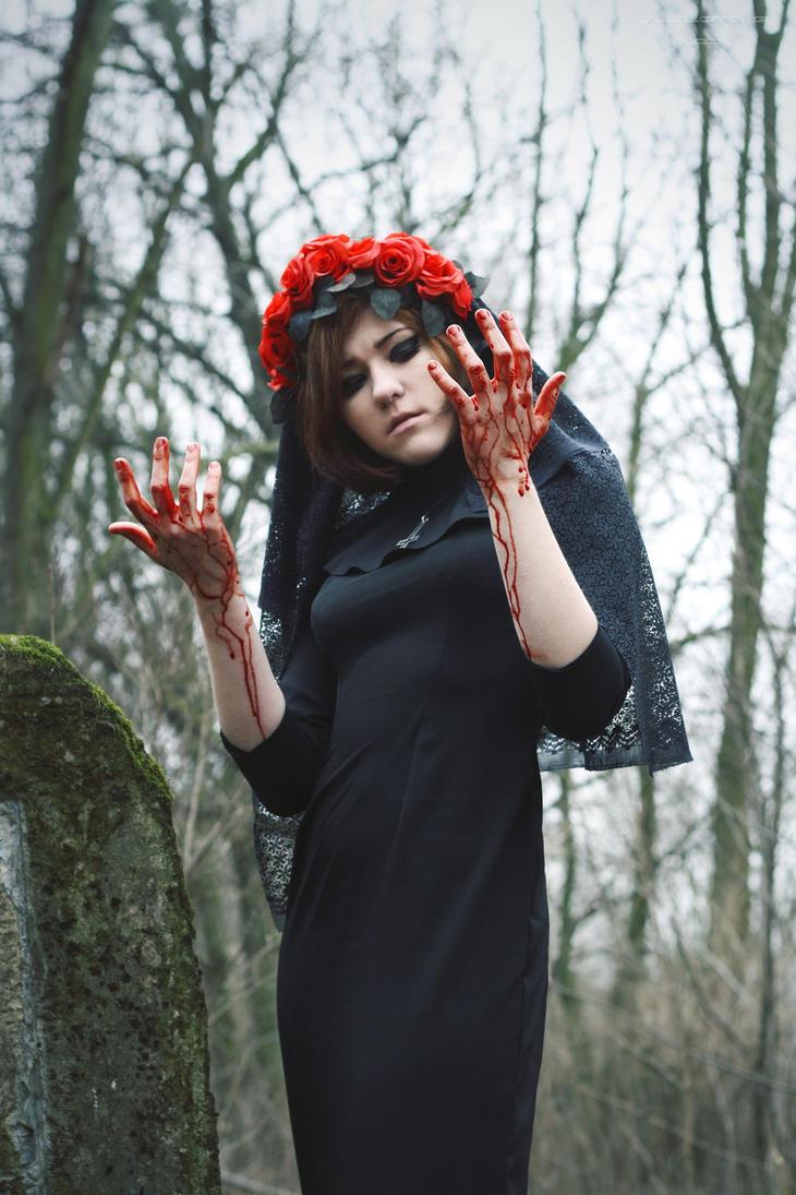Black nun_09 by Sangvinar