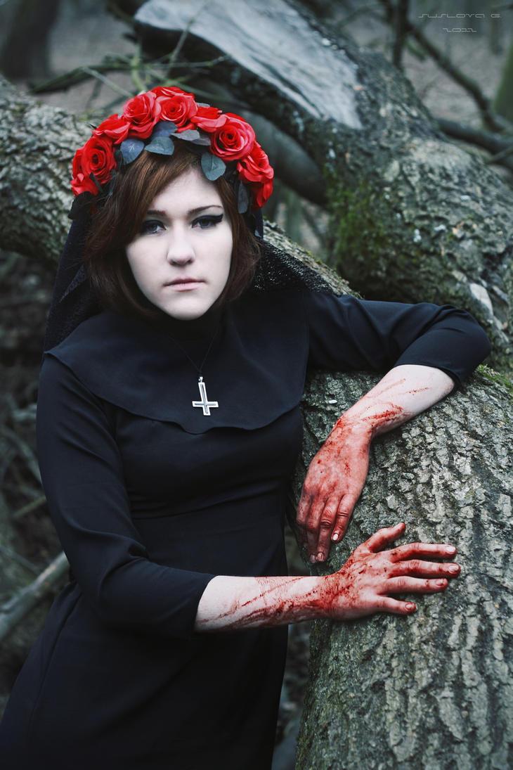 Black nun_20 by Sangvinar