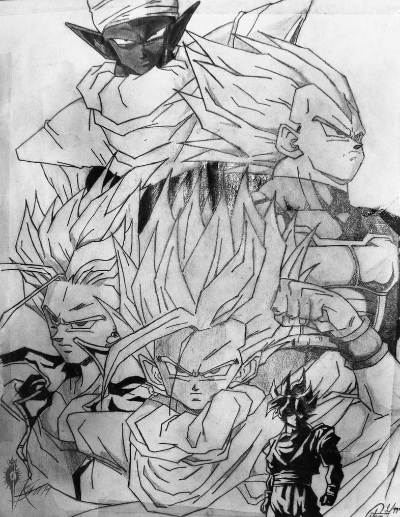Personajes de Dragon Ball Z by Kyan-Uto