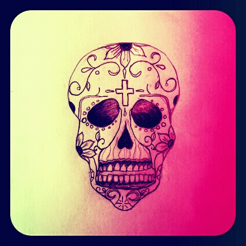 Pink Sugar Skulls Wallpaper Marcpous