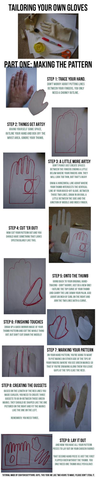 Gloves Tutorial: Part I, Making a Pattern by Eightohsixtythird