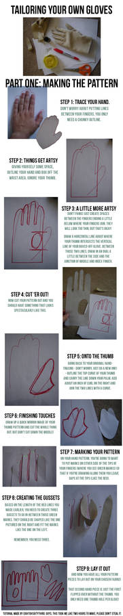 Gloves Tutorial: Part I, Making a Pattern