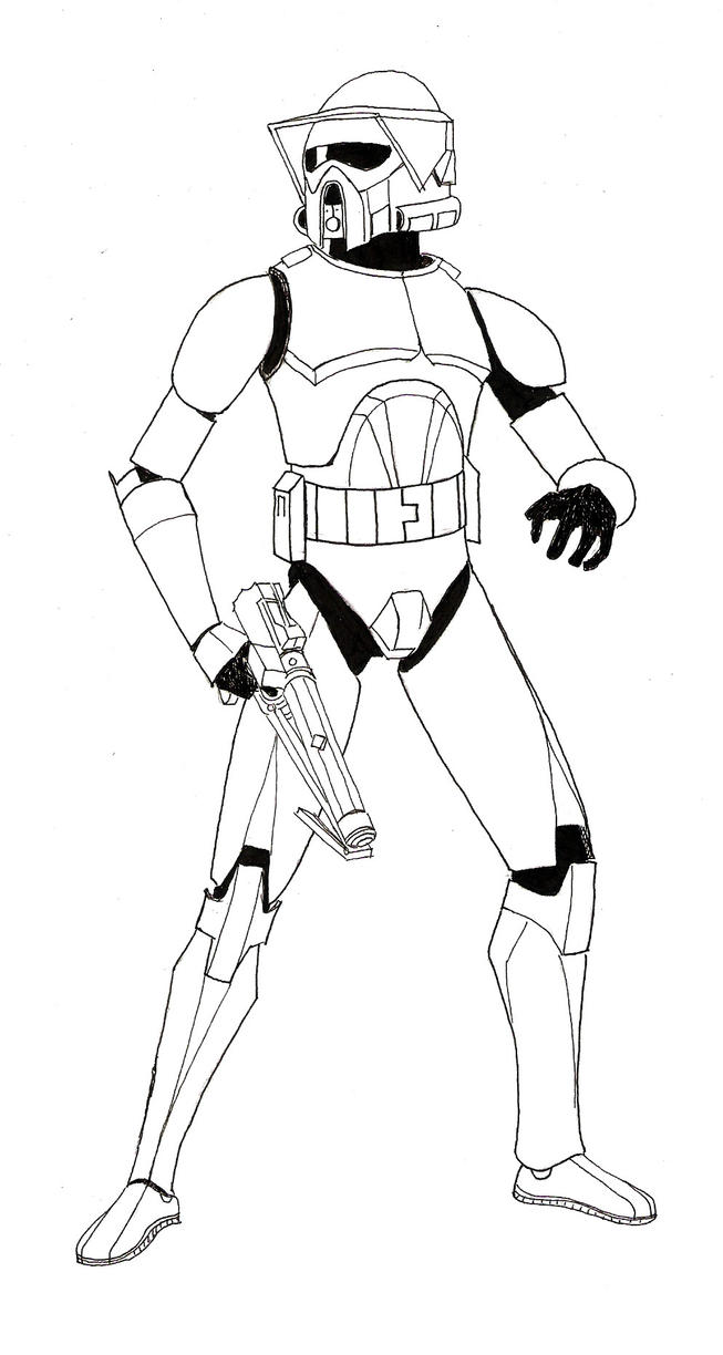 star wars the clone wars coloring pages to print - the arf trooper project 1 lineart by zaegandun on deviantart