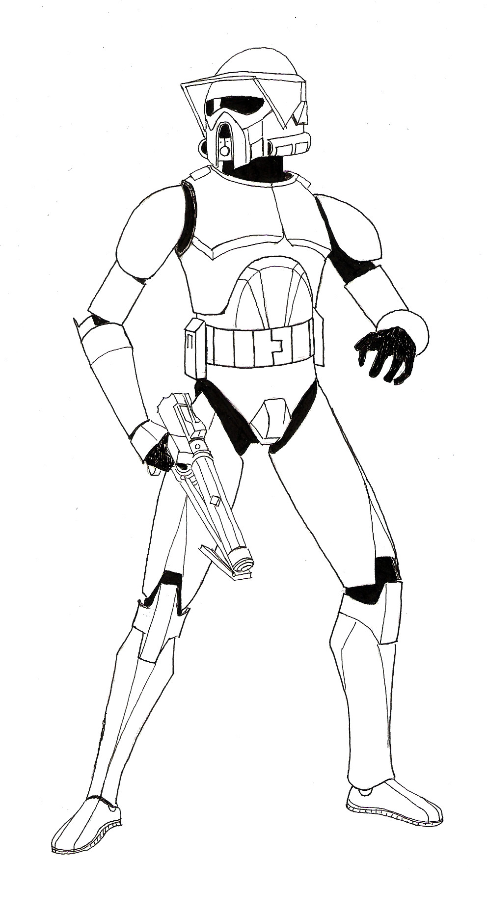 The arf trooper project 1 lineart by zaegandun on deviantart for Star wars clone wars coloring pages