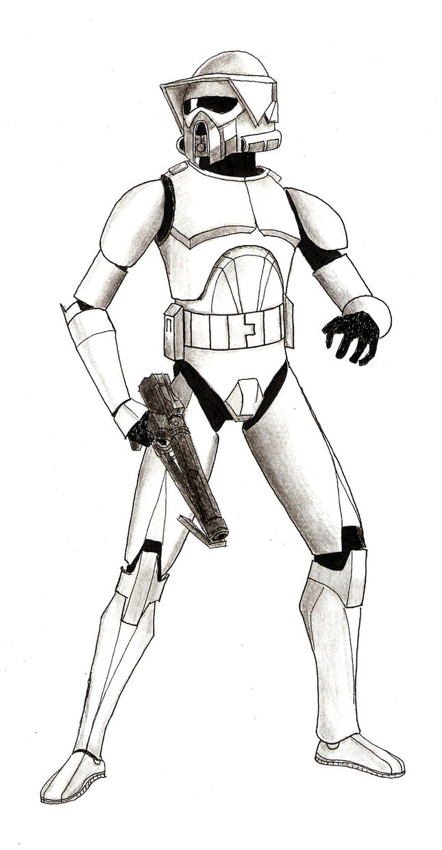 Arf Clone Trooper Drawing Sketch Coloring Page