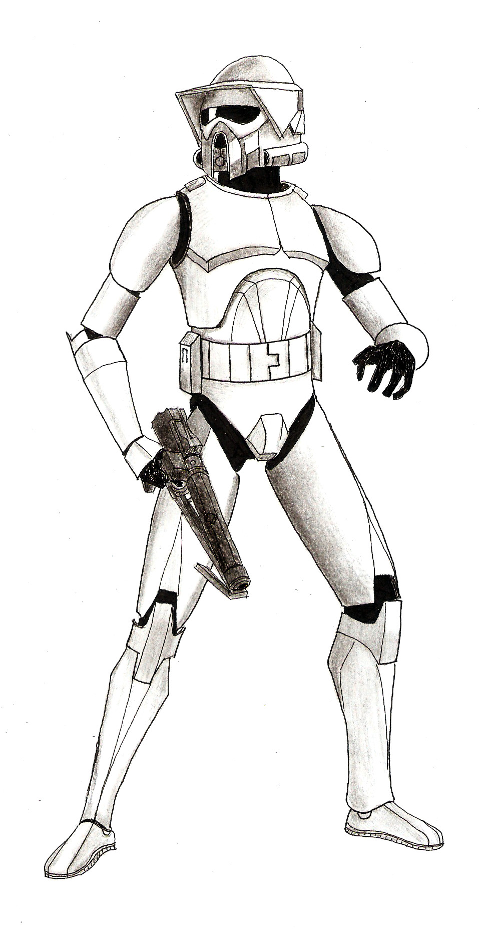 star wars arf trooper drawing pictures to pin on pinterest pinsdaddy