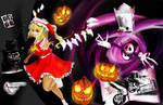 Flandre Scarlet in Halloween Land-Happy Halloween! by Sully-Evilyan