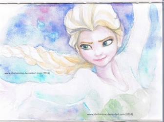 Elsa in Watercolour by starkanime
