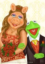 Kermit and Miss Piggy (Porter Wedding)