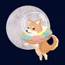 Astro Donut Doge by Yudine