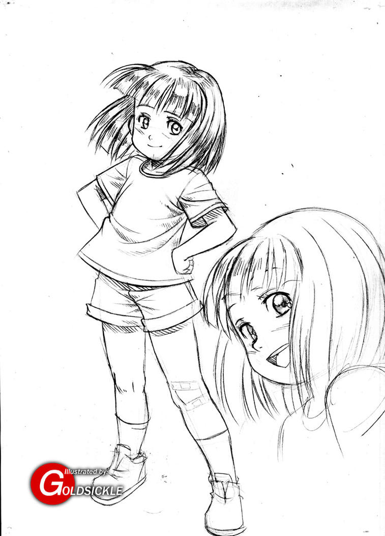 Japanese style ramona quimby by goldsickle on deviantart for Ramona quimby coloring pages