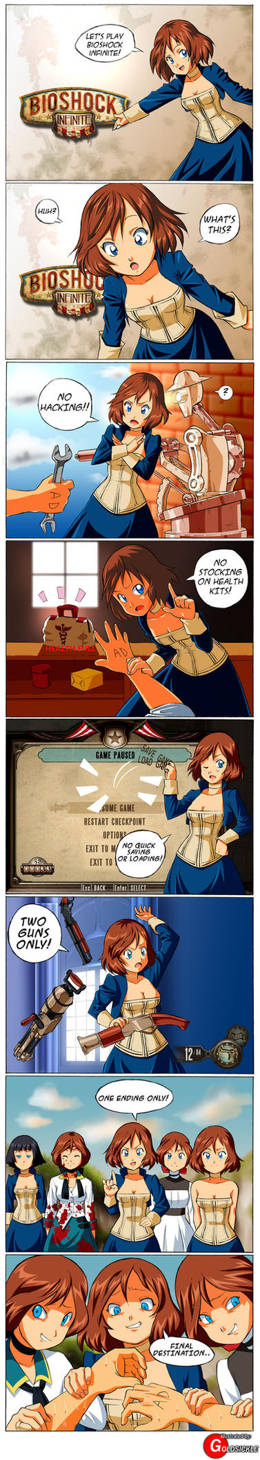 Bioshock Finite (CONTAINS ENDING SPOILERS) by Goldsickle