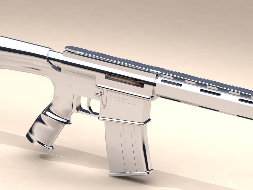 chrome AR15 by Comradepeter on DeviantArt