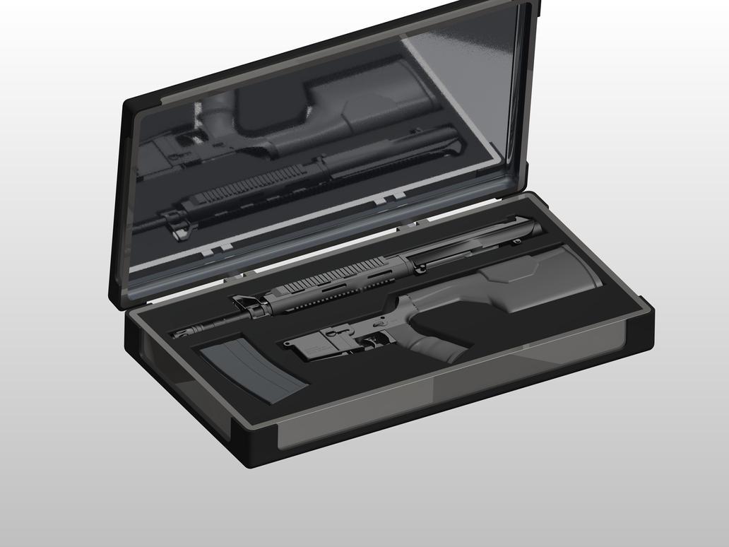 AR-15 in Case by Comradepeter on deviantART