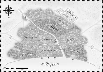 Map of Saint-Claudia city by anmcarrow