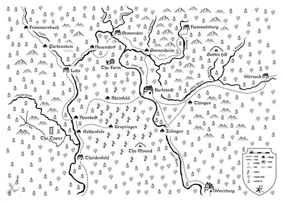 LoTFP Better Than Any Man country map for GM (BW)