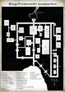 Map of the underground fortress for LoTFP BTAM