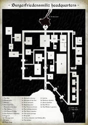 Map of the underground fortress for LoTFP BTAM by anmcarrow