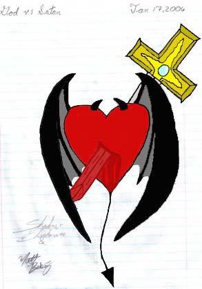 devil vs god drawing - photo #13