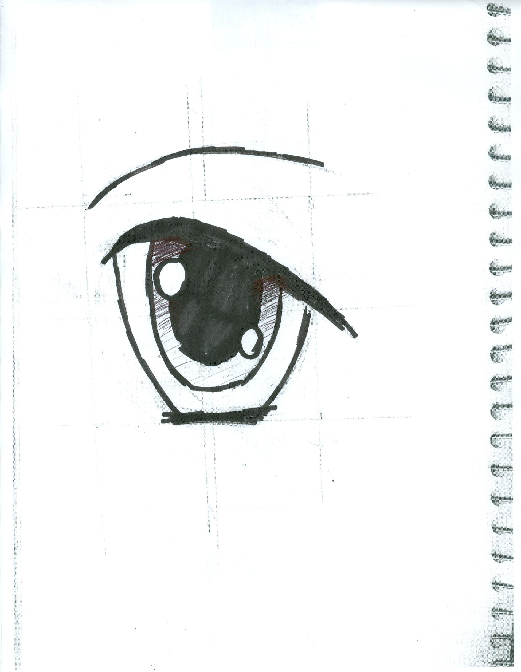 Eye with ink by XxRoset-828xX
