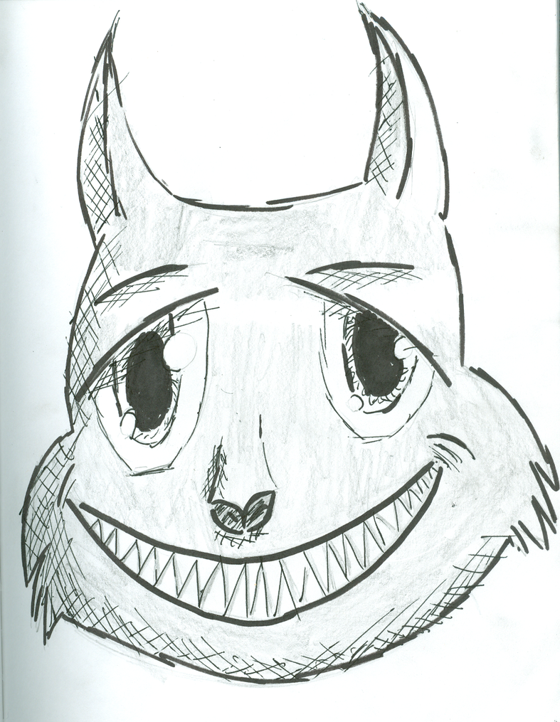 Cheshire cat Inked by XxRoset-828xX