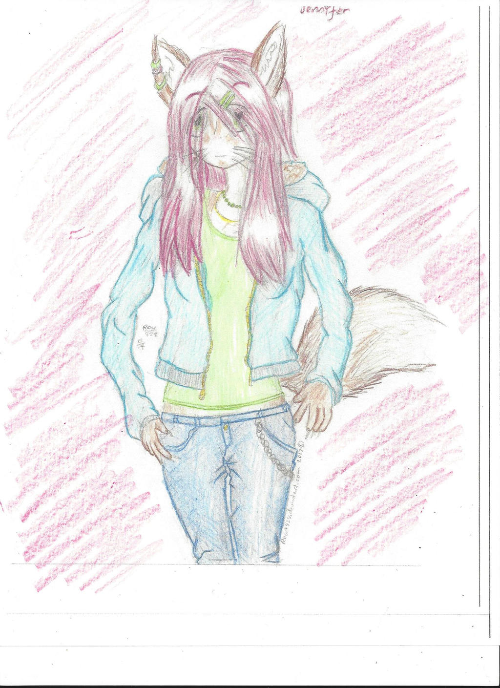 Jenny with colour by XxRoset-828xX