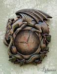 Ouroboros wall clock 01