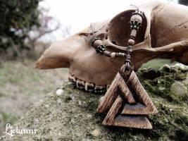 Valknut necklace - Odin's knot by Ljotunnr