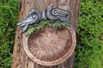 Huginn and Muninn - Handmade Wooden Ritual Bowl