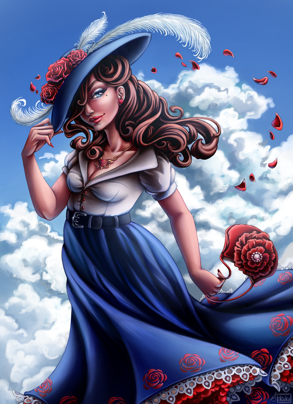The Witch of Roses by iKiska