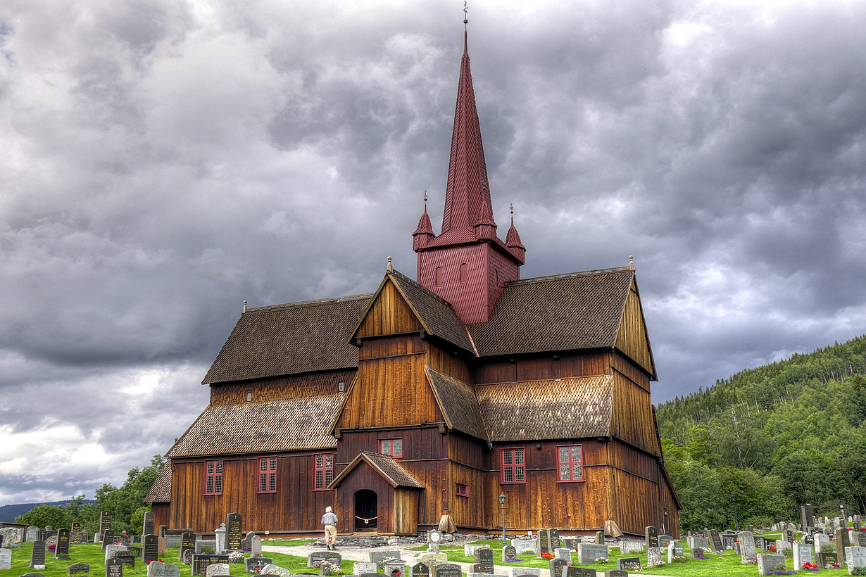 Ringebu Stave Church by MisterKrababbel