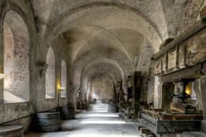 Eberbach Abbey Refectory by MisterKrababbel