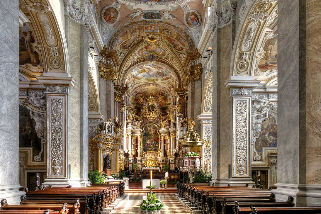 The Church At Klosterneuburg Abbey by MisterKrababbel