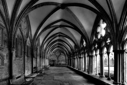 The Cloister At Salisbury Cathedral