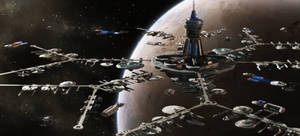 Starfleet Inactive Ship Maintenance Facility by StalinDC