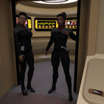 Rula and Genesis.. Aboard USS LANGTRY by StalinDC