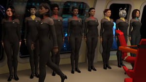 Admiral T'Var Reviews Her Staff.. 2374 by StalinDC