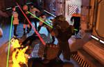Combat! Romulans Engage The Jem'Hadar! by StalinDC