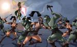 Josara And The Black Dragons.. Battling Orcs! by StalinDC